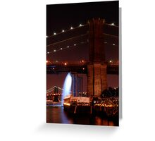 Under the Brooklyn Bridge Greeting Card