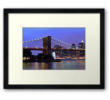 New York City at Dusk Framed Print