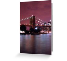 Night filled New York Greeting Card
