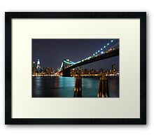 East River New York City Framed Print