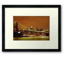Sunset over New York City Framed Print