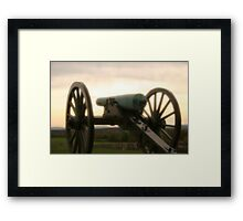 Lone cannon Framed Print