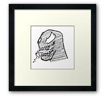 Doodle - Venom Tongue Framed Print