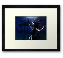 Woman under water Framed Print