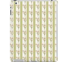 Green Stripes and Tulips iPad Case/Skin