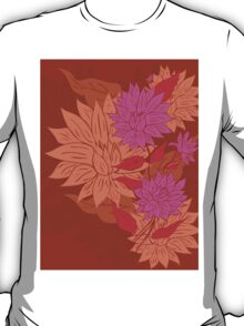 Colorful Flower Ornament 2 T-Shirt