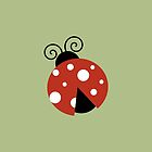 Ladybug (Ladybird, Lady Beetle) - Red White by sitnica
