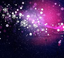 Abstract snowy background 2 by AnnArtshock