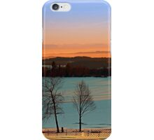 Colorful winter wonderland sundown VI | landscape photography iPhone Case/Skin