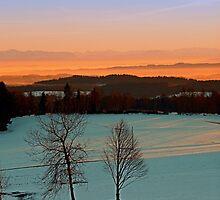 Colorful winter wonderland sundown VI | landscape photography by Patrick Jobst