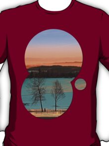 Colorful winter wonderland sundown VI | landscape photography T-Shirt
