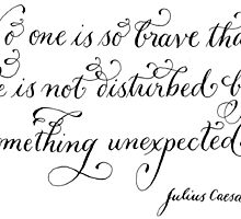 Something unexpected quote calligraphy art  by Melissa Goza