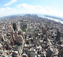 Manhattan from Empire state Building by Rickmans