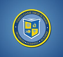 the crest of video game high school  by chicamarsh1