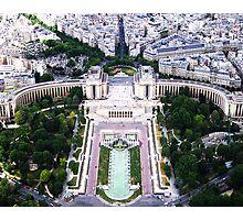 Paris from above Photographic Print
