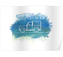 Land Rover Series II - Single Line Poster