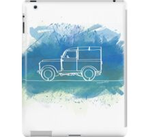 Land Rover Series II - Single Line iPad Case/Skin