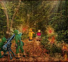 Lilliput and Venus running into a thick forest by Paola Jofre