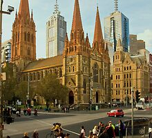 St Paul's Cathedral Melbourne by Don Stott