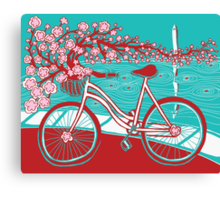 bicycle bloom Canvas Print