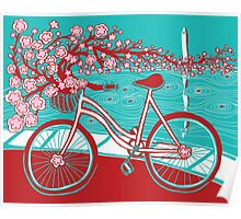 bicycle bloom Poster