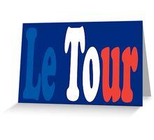 Le Tour Tricolour Greeting Card