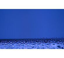 Blue water drops Photographic Print