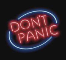 "Hitchhiker's Guide - ""Don't Panic"" Neon Sign by Brit Eddy"