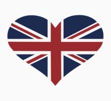 UK flag heart Kids Clothes