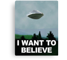Flight of the X Files Canvas Print