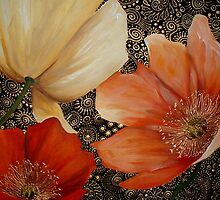 Poppy Trio by Cherie Roe Dirksen