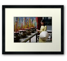 Incense Framed Print