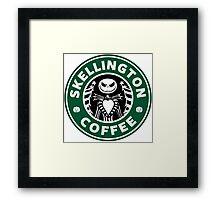 Skellington Coffee Framed Print