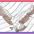 Patriotic flight by LORI NUNGESTER