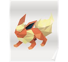 Origami Flareon Poster