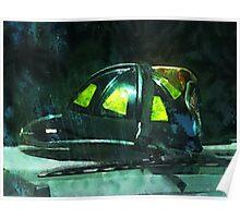 Fire Fighter's Helmet Poster