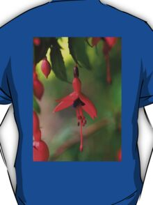 Single Wild Fuchsia Flower, Loch Na Fooey T-Shirt