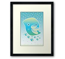 Blue Bird of Happiness Family Framed Print