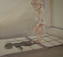 (I love light from my window)water colour on maruman watercolour paper)wet on wet technic by Suryani Shinta