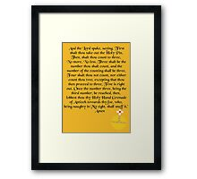 The Holy Hand Grenade of Antioch Framed Print