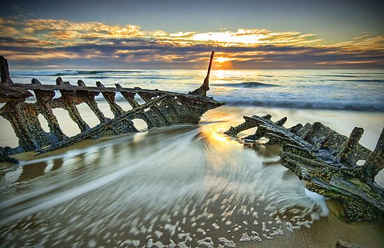 Wreck Sunrise  by Annette Blattman