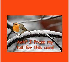 Grumpy Robin Card by Hazel Moore