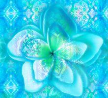 aqua frangipani glow seascape by pyarkaaloo