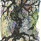 Stork and the tree by jadlart