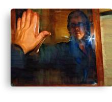 Man In The Mirror - Self Portrait Canvas Print