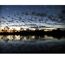 Sunset on Cobdogla  Photographic Print