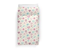 vector hand drawn doodle seamless pattern of hearts Duvet Cover