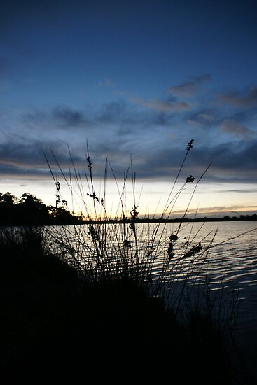 Dawn over Lake Wallaga by OZImage