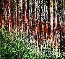 "Rainforest - Collagraph/Relief Print by Belinda ""BillyLee"" NYE (Printmaker)"