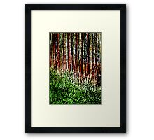 Rainforest - Collagraph/Relief Print Framed Print